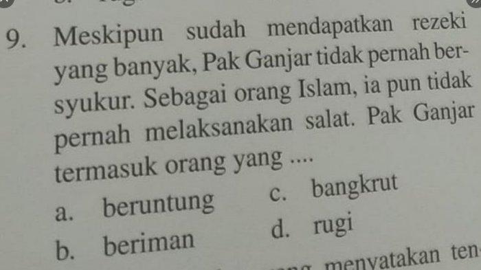Soal Ujian 'Pak Ganjar Islam Tapi Tak Pernah Salat', Abu Janda, Denny, Ferdinand Dicolek Netizen