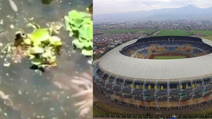 VIDEO: Viral Kolam Ikan di Dalam Stadion GBLA Bandung, ini Penjelasan Pengelola