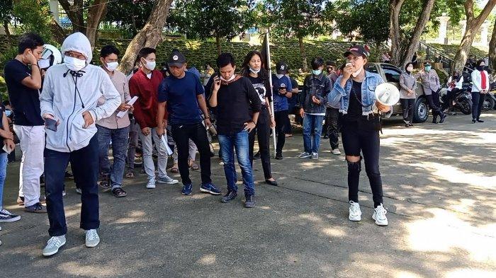 Hipmakar Demo di DPRD Sulbar, Tolak Perusahaan Perkebunan Sawit Masuk di Bonehau