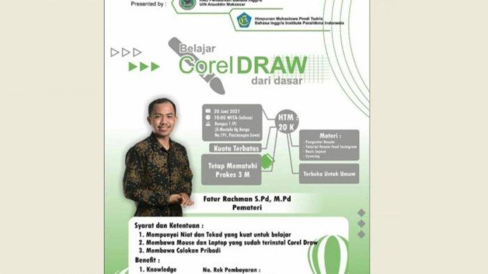 HMJ PBI UIN Alauddin Makassar Ajak Mahasiswa Belajar Desain, Berikut Cara Daftarnya