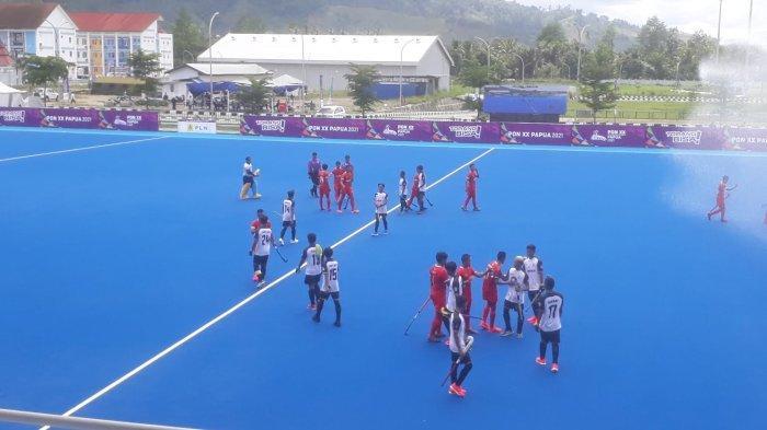 PON XX Papua 2021, Hockey Outdoor Putra Sulsel Kalah Telak 7-1 dari Jabar
