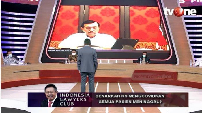 Serunya ILC TV One, Karni Ilyas Protes Menko Jokowi Luhut Panjaitan Kenapa UU Cipta Kerja Diam-diam