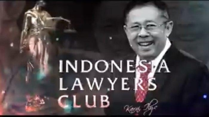 Karni Ilyas Dikritik Netizen Gara-gara Tema ILC TV One Bahas OTT KPK Anak Buah Jokowi & Prabowo