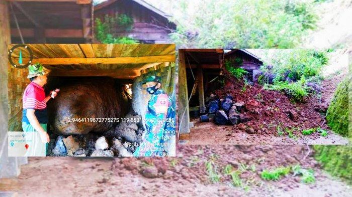 4 Rumah di Sareale Toraja Utara Diterjang Tanah Longsor