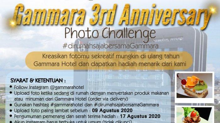 Yuk Ikut Photo Challenge HUT ke-3 Gammara Hotel, Ini Hadiahnya!