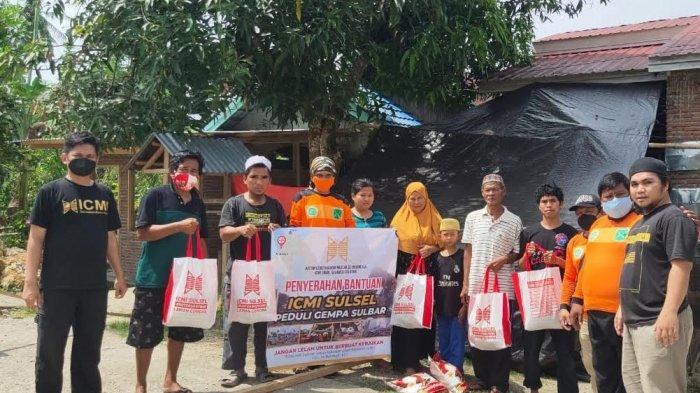 ICMI Sulsel Salurkan Bantuan Tahap 1 Untuk Korban Gempa Sulbar