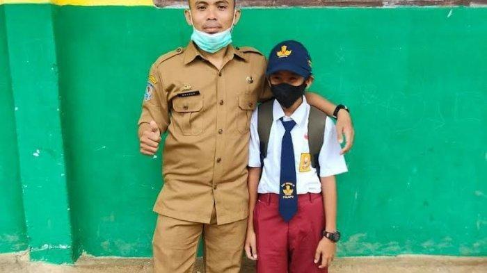 Tak Punya Seragam, Siswa SMP di Palopo Sekolah Tatap Muka Perdana Pakai Celana SD