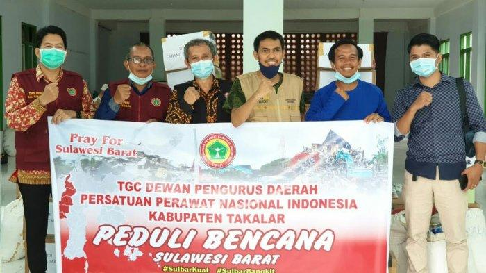 Lewat Lazizmu, IDI-PPNI Cabang Takalar Salurkan Bantuan untuk Korban Gempa Sulbar