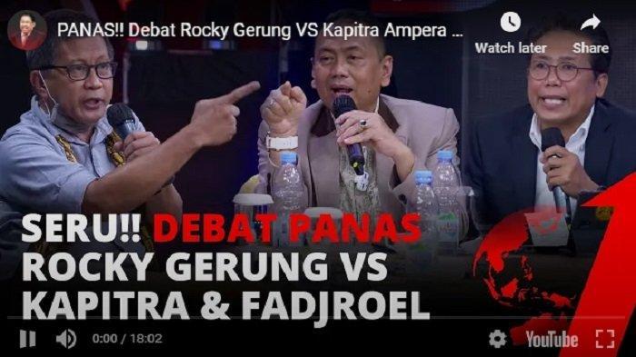 SERU! ILC TV One Semalam Rocky Gerung Dikeroyok Jubir Jokowi dan Kapitra Ampera, Pemerintah Dituduh