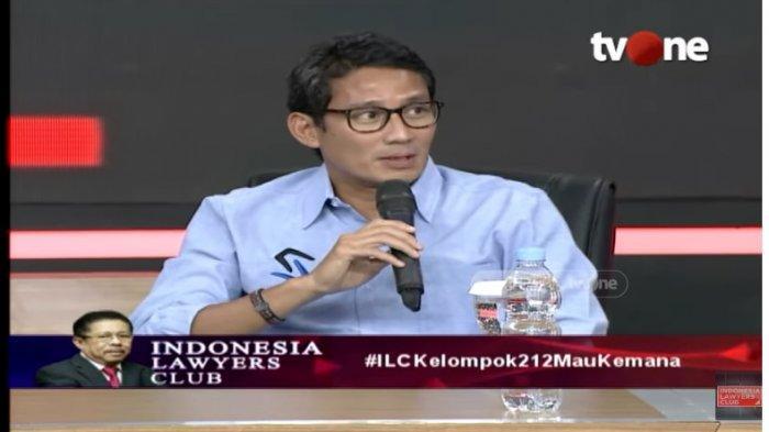 BLAK-BLAKAN Sandiaga Uno di ILC TV One, Ternyata Tak Dilibatkan Pertemuan Jokowi dan Prabowo
