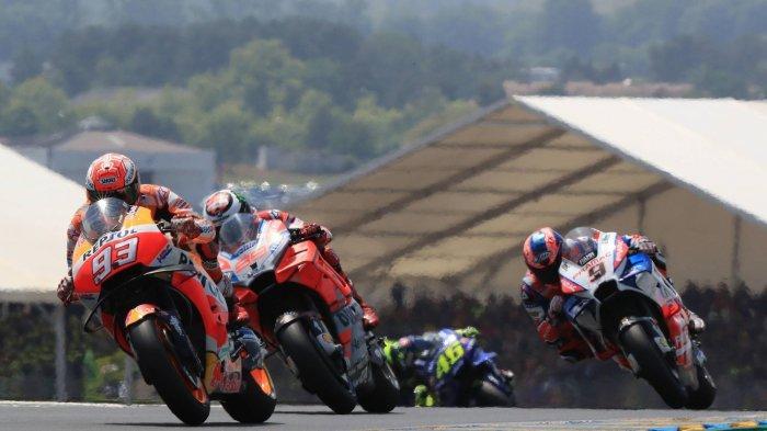 Live Trans 7 Link Live Streaming MotoGP 2019 Perancis, Marquez Pole Position Dovi 4, Rossi No 5