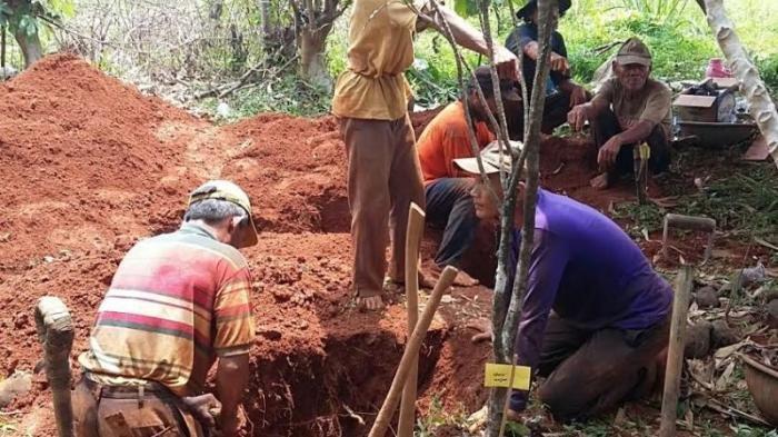 Ilustrasi menggali kuburan