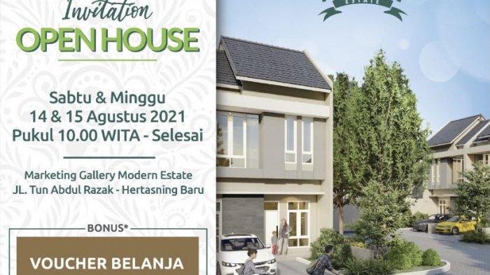 Bayar Uang Tanda Jadi Saat Open House Modern Estate, Ada Bonus AC dan Voucher Belanja