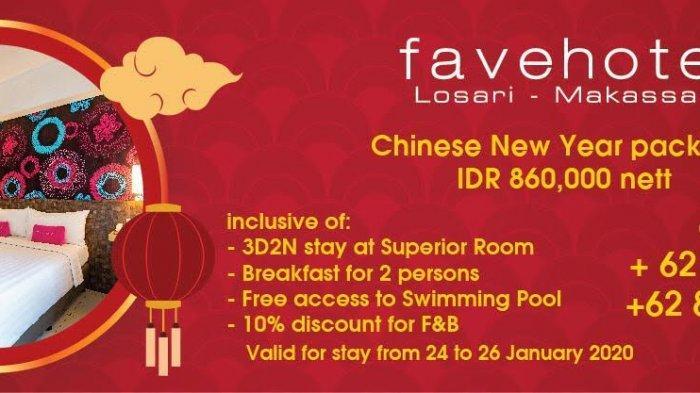 Promo Imlek di Favehotel Losari Makassar, Mulai Rp 860 Ribu Per 2 Malam
