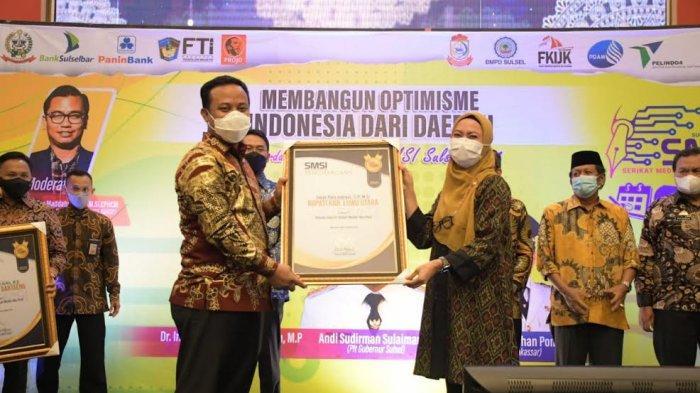 Peduli Media dan Pers, Indah Putri Indriani dapat Penghargaan dari SMSI