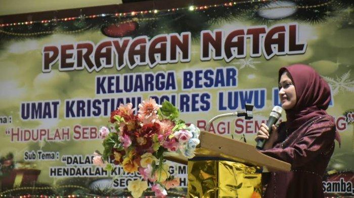 Hadiri Perayaan Natal di Polres Luwu Utara, Indah Putri Harap Polisi Jadi Sahabat Masyarakat