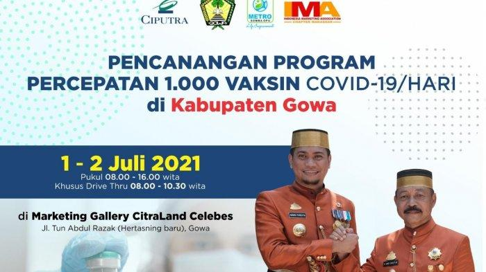Besok, IMA Chapter Makassar Gelar Vaksinasi Covid-19 di Citraland Celebes Gowa