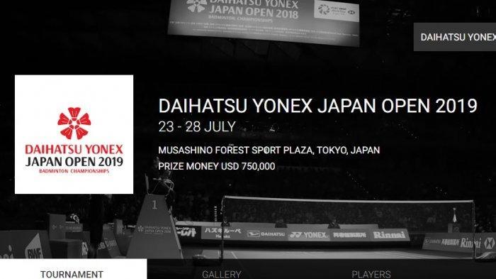 Indonesia Open 2019 Berakhir, Japan Open 2019 Menanti, Ini Hasil Drawing Lengkap 17 Wakil Indonesia