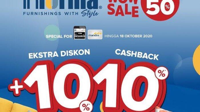 Informa Pettarani Beri Promo Diskon 50 Persen Plus 10+10