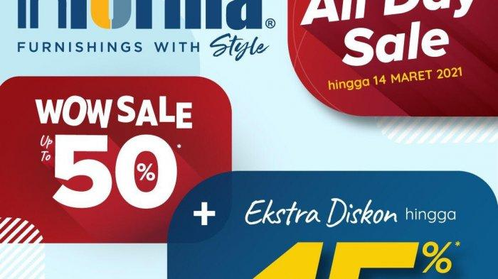 Informa Wow Sale, Diskon Up To 50 Persen dan Ekstra 15 Persen