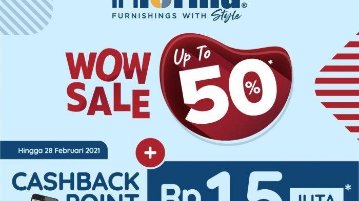 Promo Informa, Wow Sale Up to 50 Persen dan Plus Cashback Senilai Rp 1,5 Juta