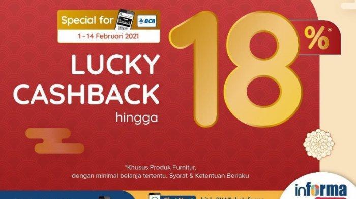 Informa Gelar Promo Lucky Cashback hingga 18 Persen