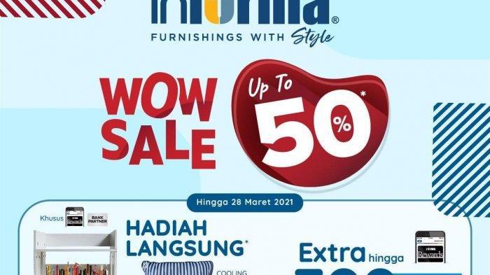 Informa Wow Sale Up to 50 Persen Tawarkan Hadiah Langsung
