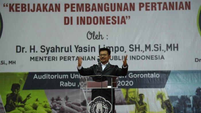 Ini Pesan Mentan Untuk Mahasiswa Gorontalo