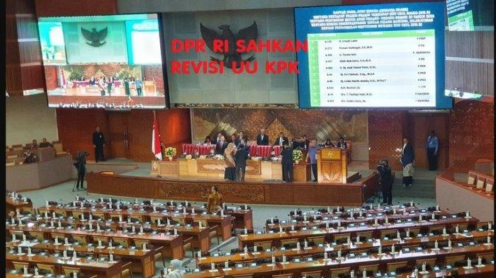Inilah 7 Poin Revisi UU KPK yang Disahkan DPR RI, Laode Syarif Sebut Lumpuhkan Penindakan