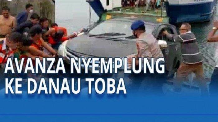 Jembatan Penghubung Kapal Patah, Avanza Tercebur ke Danau Toba Samosir 4 Penumpang Tenggelam
