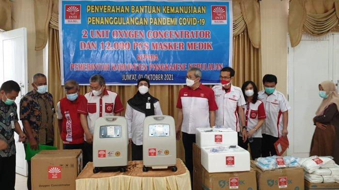2 Mobile Oxygen Concentrator dari Indonesia Tionghoa Sulsel untuk Layanan Medik Kepulauan Pangkep - inti_sulsel_bupati_pangkep_2021_.jpg