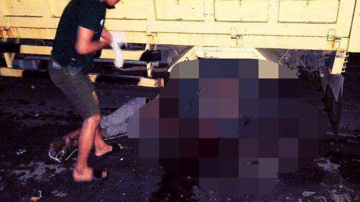 Pengendara Becak Motor (Bentor) tewas terlindas truk