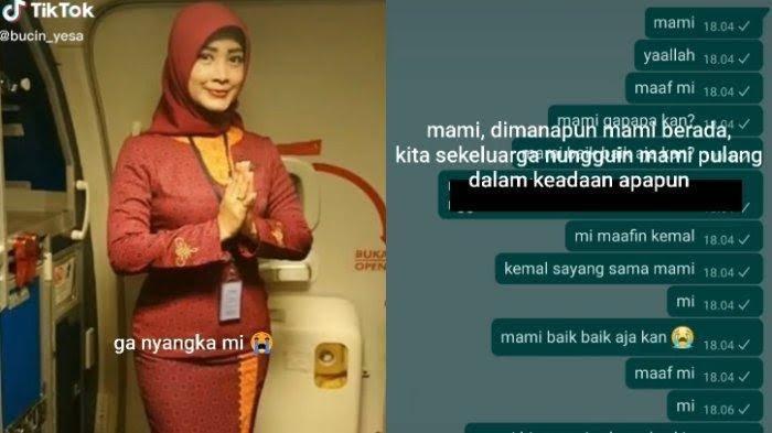 Video: VIRAL Isi Chat WhatsApp Anak Pramugari Sriwijaya Air SJ182 Minta Maaf saat Tahu Pesawat Jatuh