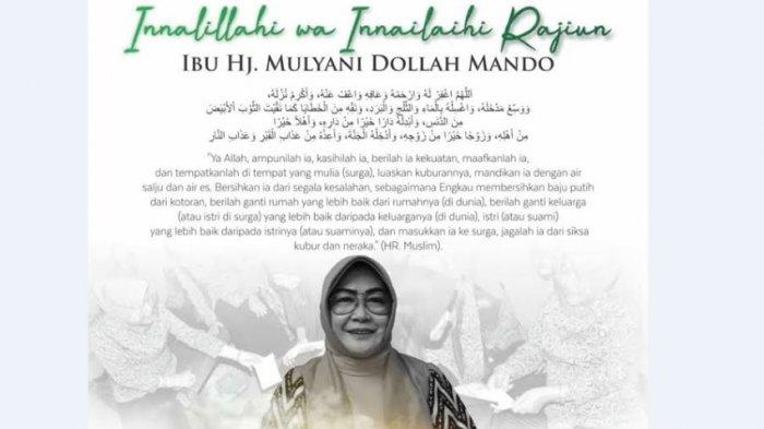 BREAKING NEWS: Istri Bupati Sidrap Mulyani Dollah Meninggal Dunia di RS Wahidin