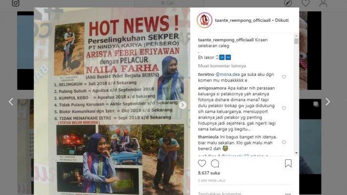 Istri Sah Sebar Pamflet Foto Suami Pejabat BUMN dengan Pelakor, Sampai Tulis 'Stop Gratifikasi Seks'