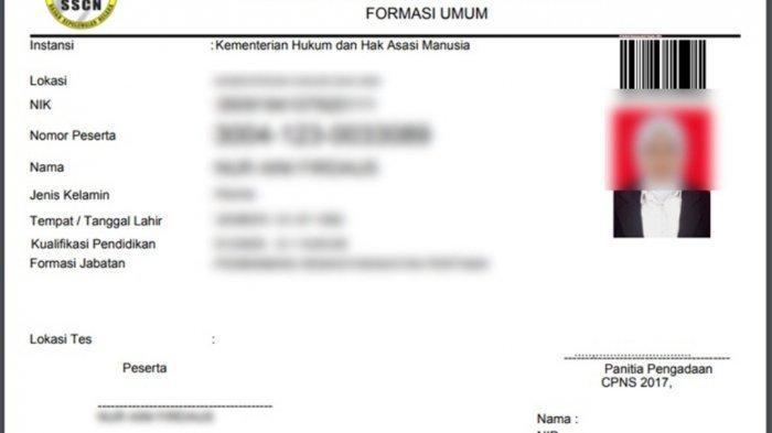 Jadwal Cetak Kartu Peserta Ujian CPNS 2019 Kemenkumham, Login sscn.bkn.go.id Pakai NIK dan Password