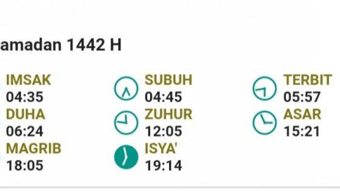 Jadwal Imsakiyah Makassar, Enrekang, Pinrang, dan Sidrap 3 Ramadhan 1442H