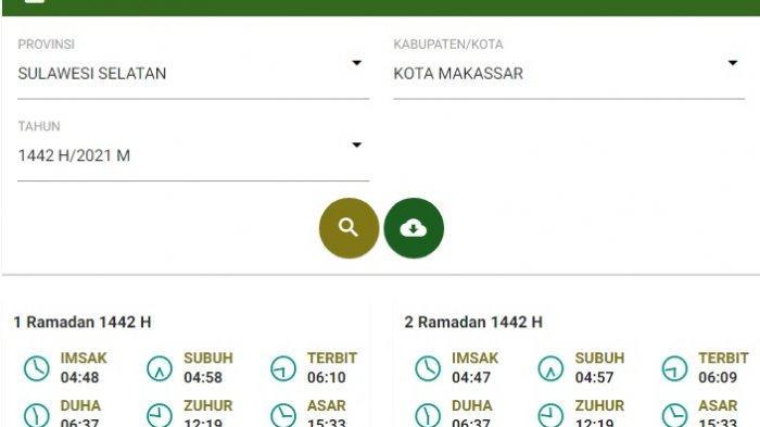 Download Jadwal Imsakiyah & Buka Puasa dari Hari 1-30 Wilayah Makassar, Lengkap 33 Provinsi
