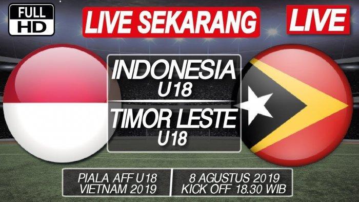 SEDANG BERLANGSUNG 4 Link Live Streaming SCTV Timnas U-18 Indonesia vs Timor Leste, Nonton Sekarang!