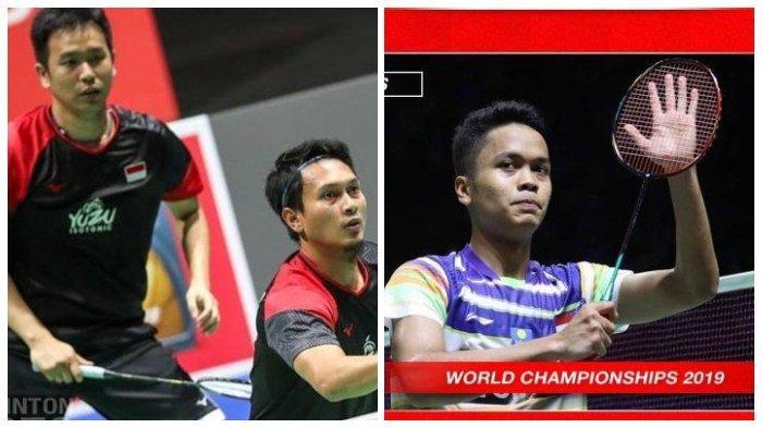 Jadwal Tanding 6 Wakil Indonesia di Perempat Final China Open 2019, Anthony Ginting dan Ahsan/Hendra