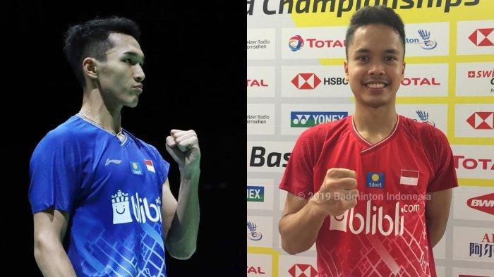 Jadwal Tanding 9 Wakil Indonesia di Hari ke-2 Kejuaraan Dunia BWF 2019, Jonatan dan Anthony Main
