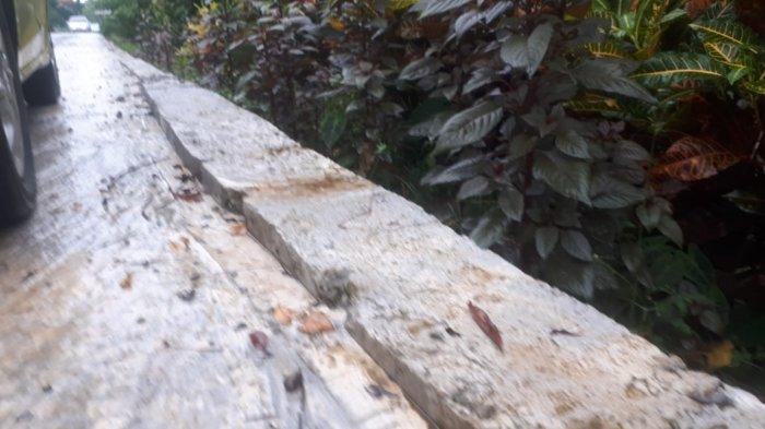Belum Setahun Jalan Beton di Tompobulu Maros Sudah Rusak dan Berpasir, Dinas PU Bilang Begini