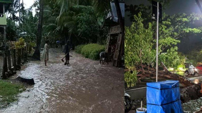 Diguyur Hujan Semalaman, Jalan di Lingkungan Alorang Bulukumba Berubah Jadi Sungai