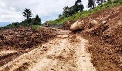Sempat Tertimbun Longsor, Jalan Penghubung Tiga Desa di Batueran Torut Sudah Bisa Dilalui Kendaraan