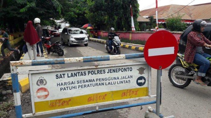 Hindari Kemacetan, Polisi Rekayasa Sejumlah Jalan dalam Kota Jeneponto