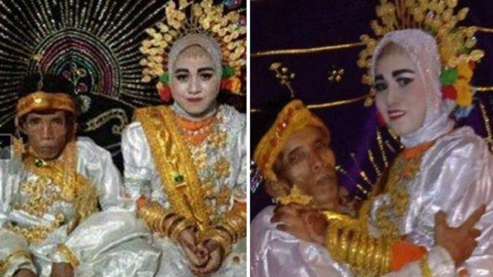 Janda Muda di Bone Dinikahi Kakek 58 Tahun Mahar 1 Hektar Tanah, Momen Romantis usah Nikah Viral