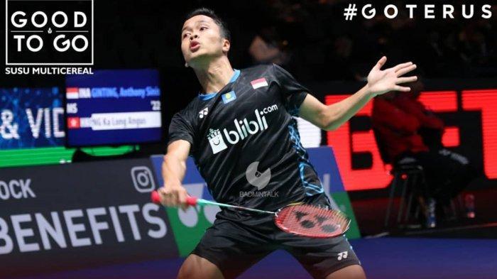 Japan Open 2019-Anthony Ginting Takluk dari Kento Momota, Jojo Hadapi Runner Up Indonesia Open 2019