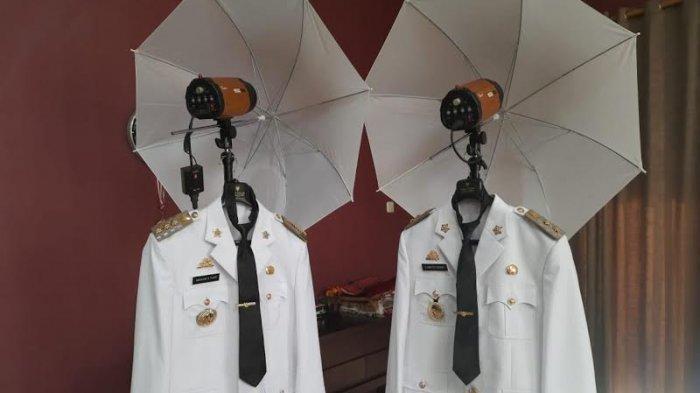 FOTO; Seragam Bakal Dikenakan Andi Utta-Edy Manaf Saat Pelantikan