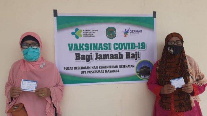 Jamaah Calon Haji Luwu Utara Divaksin Covid-19