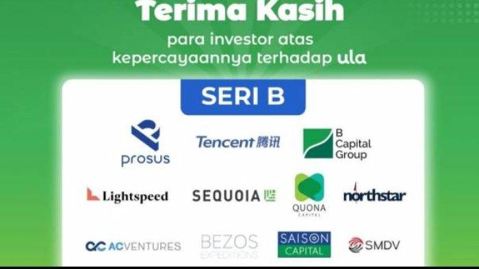 Startup Ula mendapatkan pendanaan dari sejumlah investor, salah satunya adalah Bezos Expeditions